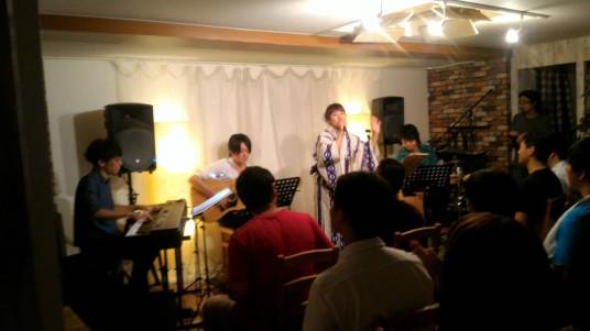 2017/8/11ミルノ純アコースティックワンマン「真夏のMystery Acoustic Live」@原宿ひまわり広場で手をつなごう